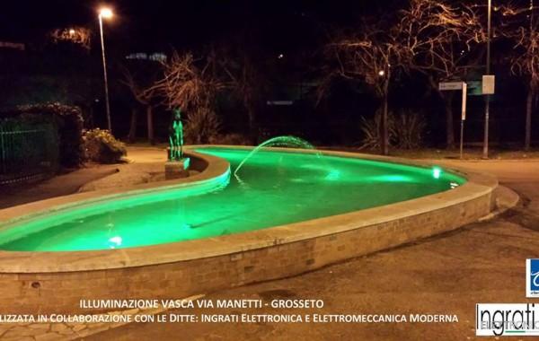 Realizzazione illuminazione vasca Via Manetti (Grosseto)